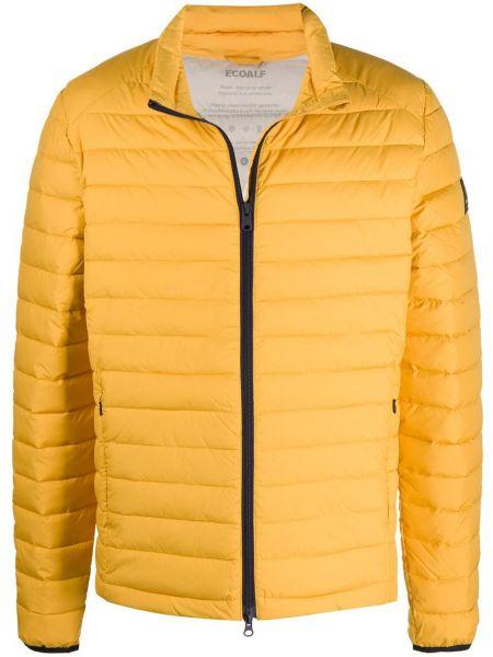 Прямая желтая куртка на молнии с карманами Ecoalf