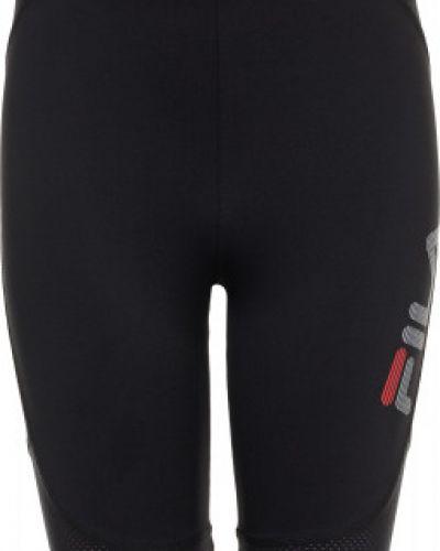 Черные шорты спортивные Fila