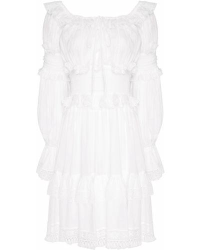 Платье мини с оборками Dolce&gabbana