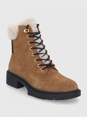 Замшевые ботинки Coach