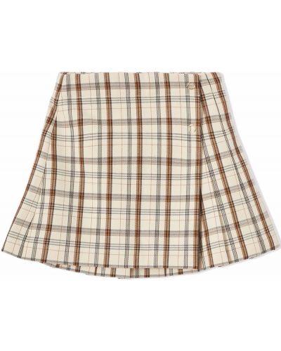 Beżowa spódnica wełniana Burberry Kids