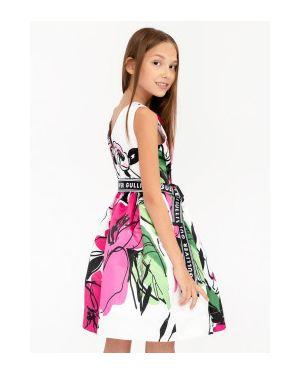 Спортивное розовое платье сетчатое с рисунком Gulliver Wear