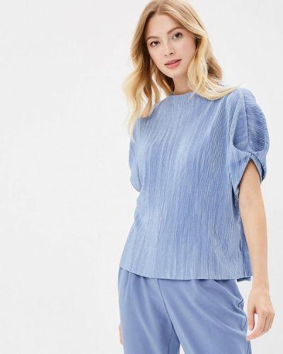 Блузка с коротким рукавом осенняя голубой Zarina