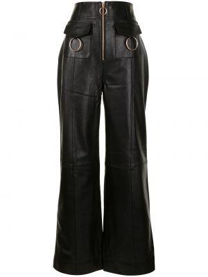 С завышенной талией кожаные черные брюки Alice Mccall