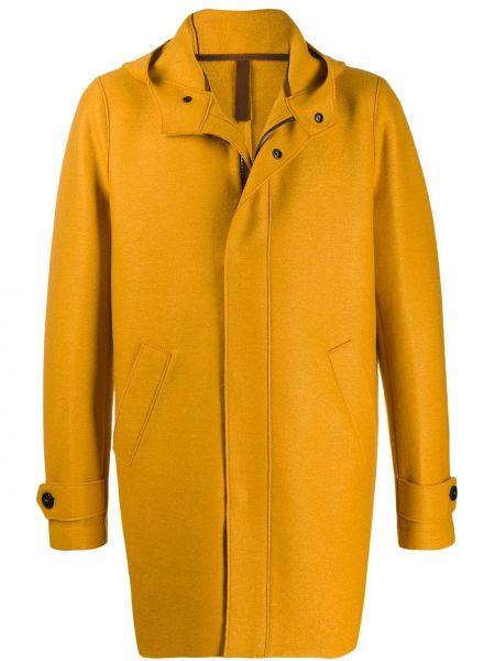 Прямое желтое длинное пальто на молнии Harris Wharf London