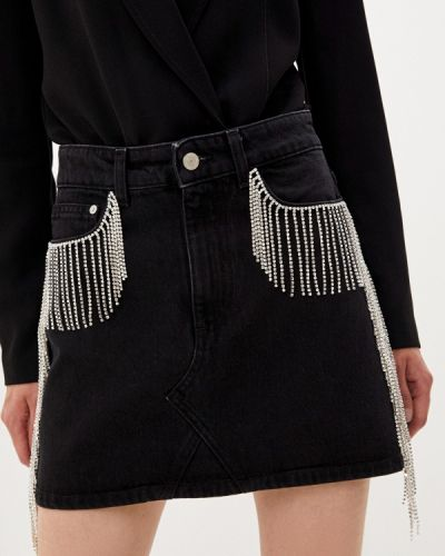 Черная джинсовая юбка Chiara Ferragni Collection