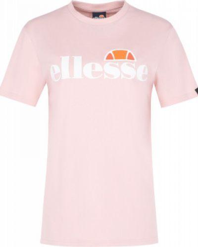 Розовая базовая хлопковая футболка Ellesse