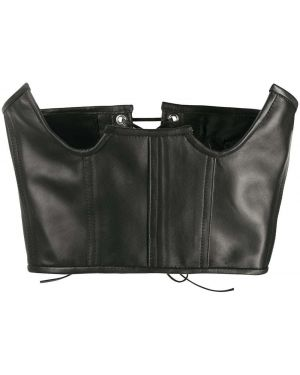 Черный кожаный корсет Manokhi