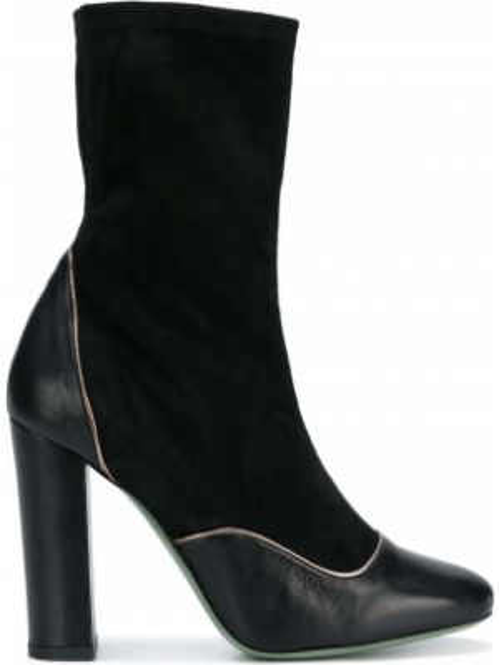 Черные спортивные сапоги без каблука круглые Paola D'arcano