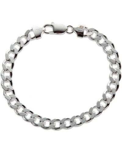 Bransoletka łańcuch srebrna - biała Hatton Labs