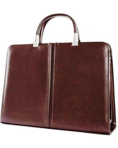 Кожаный портфель - коричневый Jurom