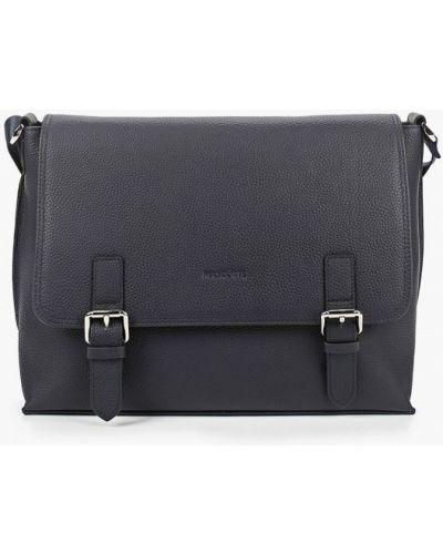 Синий кожаный портфель Mascotte