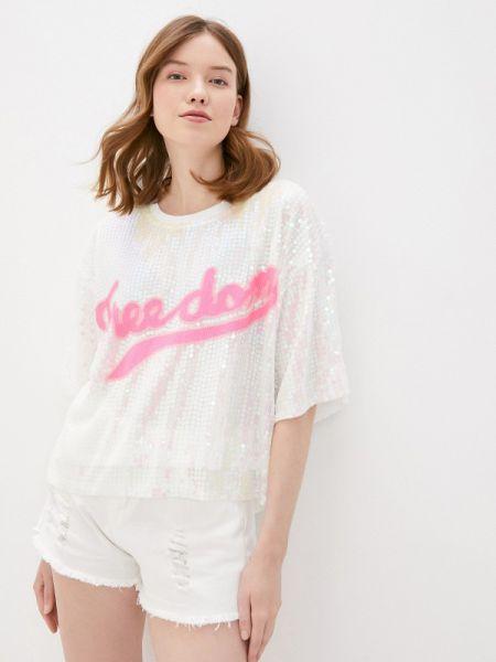 Белая блузка с коротким рукавом Care Of You