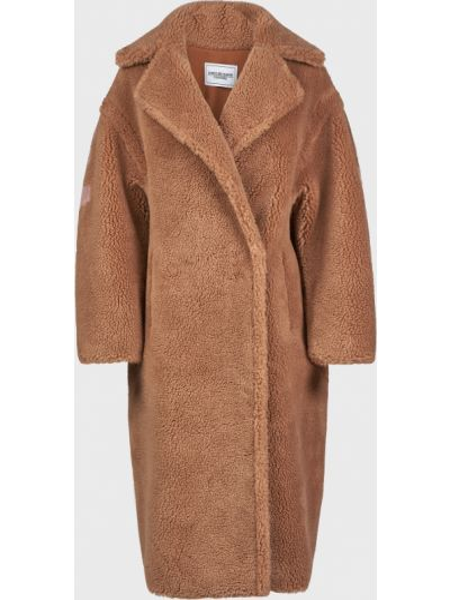 Шерстяная шуба - коричневая Forte Dei Marmi Couture
