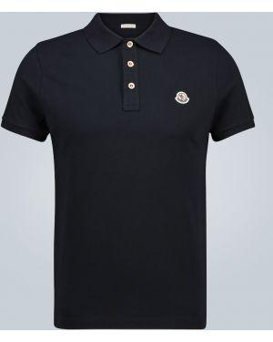 Koszula z haftem z logo Moncler