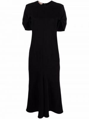 Хлопковое платье миди - черное Marni