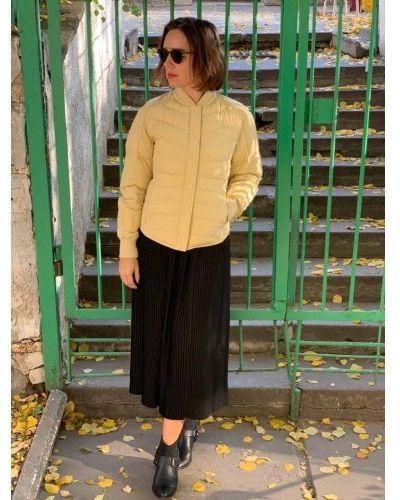 Пуховая куртка - желтая Uniqlo