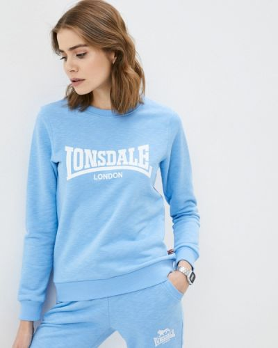 Голубая весенняя толстовка Lonsdale
