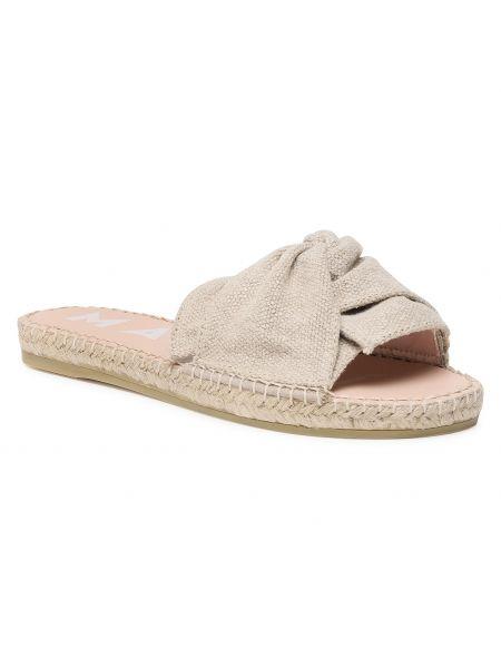 Beżowe sandały casual Manebi