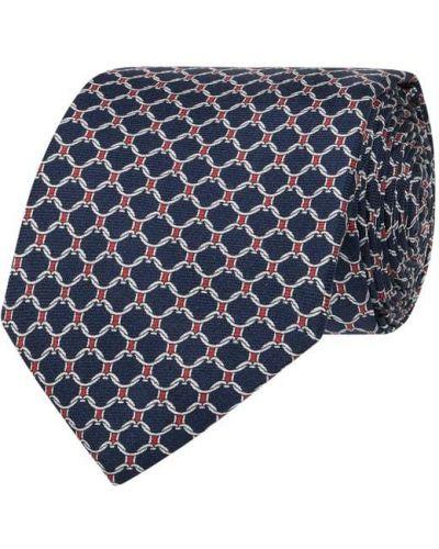 Jedwab niebieski krawat Tommy Hilfiger