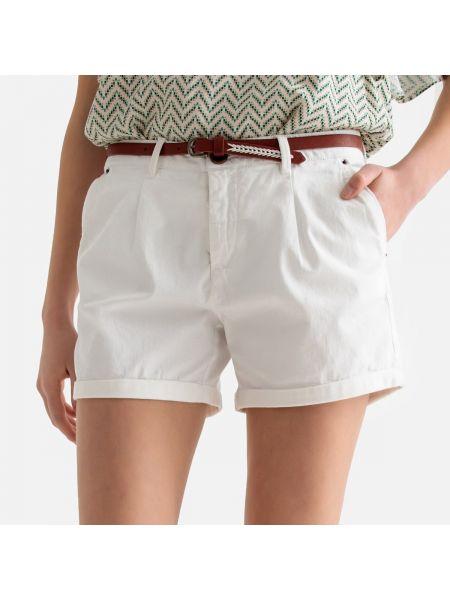 Хлопковые белые короткие шорты в морском стиле Best Mountain