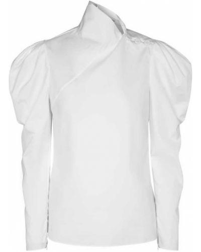 Ватная хлопковая белая блузка Erdem