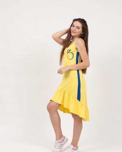 Летнее платье миди с оборками Lovitton