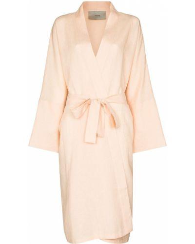 Оранжевый халат длинный Asceno