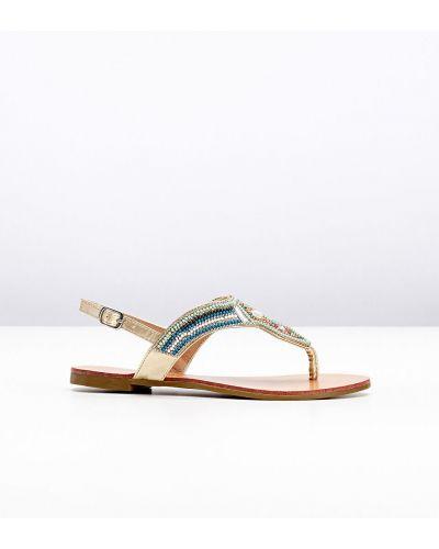 С ремешком сандалии с пряжкой мятные Bonprix