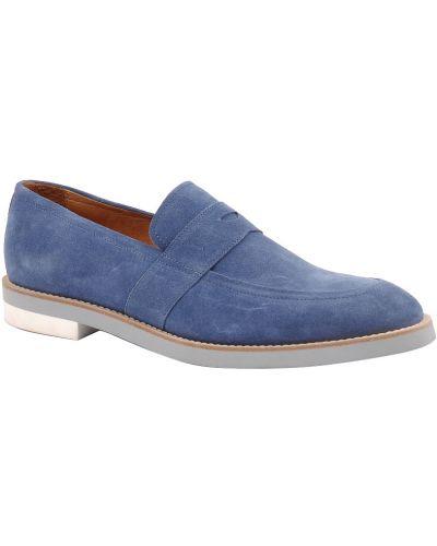 Голубые туфли замшевые Armani Collezioni