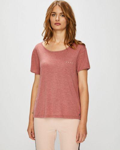 Розовая свободная футболка Roxy