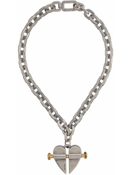 Ожерелье серебряный Prada