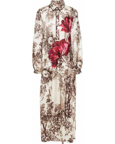 Ażurowa sukienka midi z wiskozy z printem F.r.s For Restless Sleepers