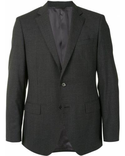 Шерстяной облегающий костюмный костюм на пуговицах D'urban