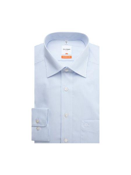 Klasyczna niebieska klasyczna koszula bawełniana Olymp