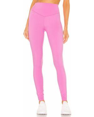 Różowe spodnie z nylonu peep toe Lovewave