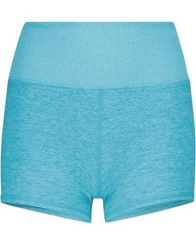 Niebieskie szorty z nylonu Alo Yoga