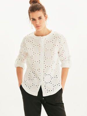 Базовая блузка с вышивкой с вырезом Love Republic
