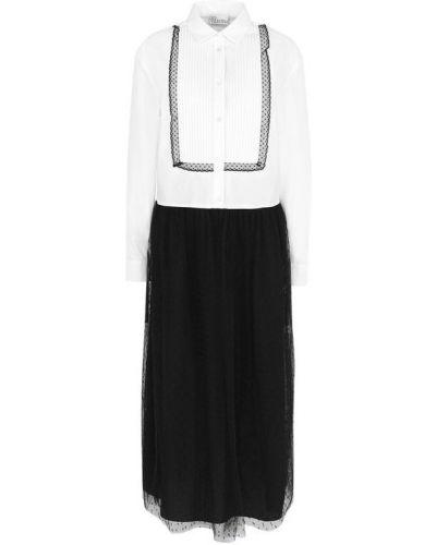 Платье рубашка прямое сетчатое Redvalentino