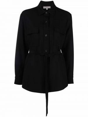 Черная рубашка с длинным рукавом с длинными рукавами Antonelli