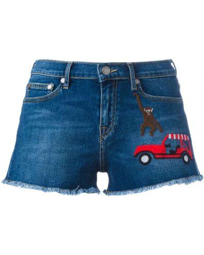 Джинсовые шорты с карманами со стразами Mira Mikati