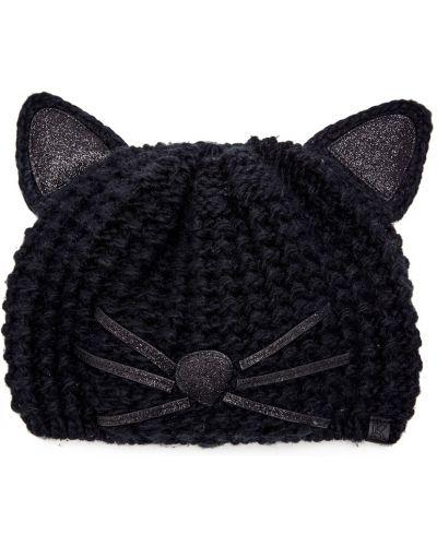 Вязаная шапка черная вместительный Karl Lagerfeld