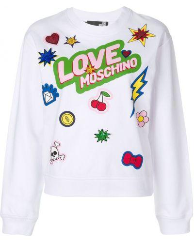 Белый джемпер Love Moschino