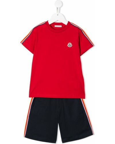 Спортивный костюм прямой красный Moncler Kids