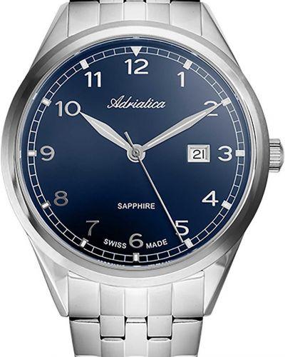 Костюмные серебряные часы водонепроницаемые для офиса Adriatica