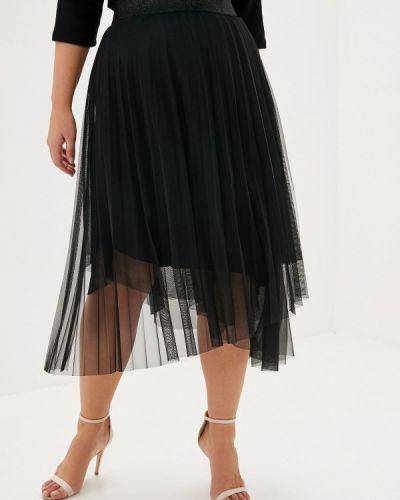 Плиссированная юбка черная итальянский Keyra