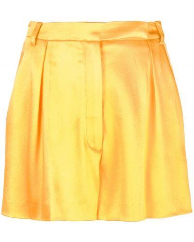 Желтые шорты на пуговицах со складками Carolina Herrera