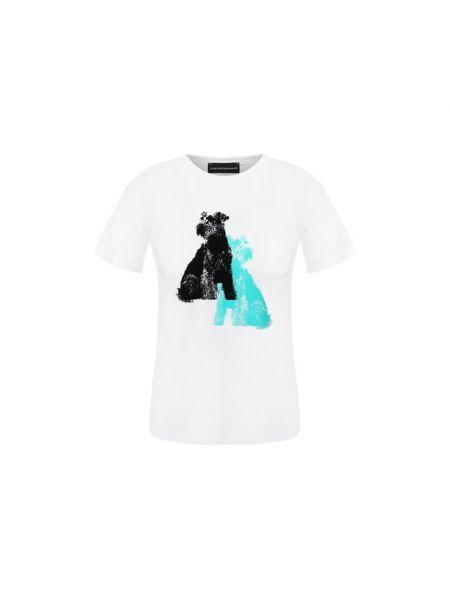 Спортивная футболка белая футбольный Emporio Armani