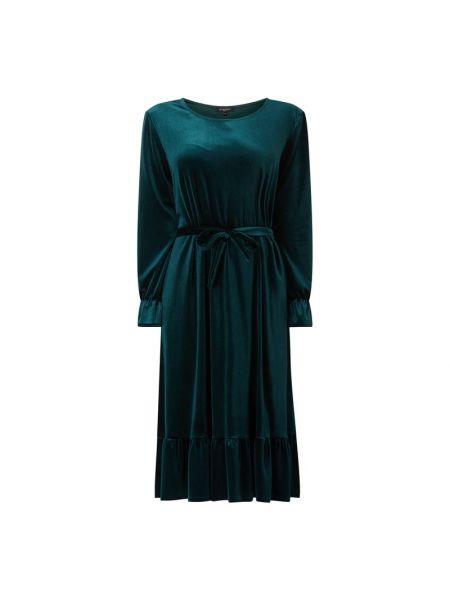 Sukienka rozkloszowana z długimi rękawami - zielona Ilse Jacobsen