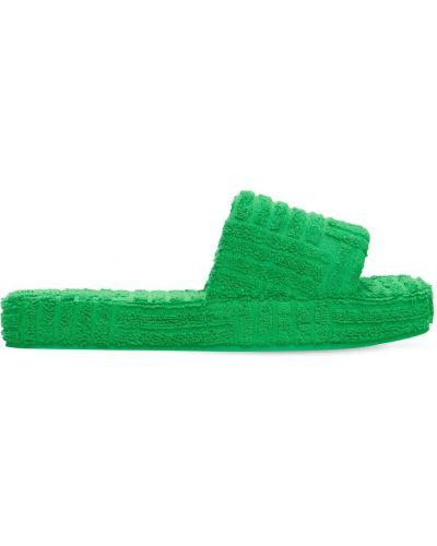 Резиновые шлепанцы - зеленые Bottega Veneta